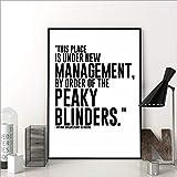 TV-Serie zitieren Poster Peaky Blinders Print Wandkunst