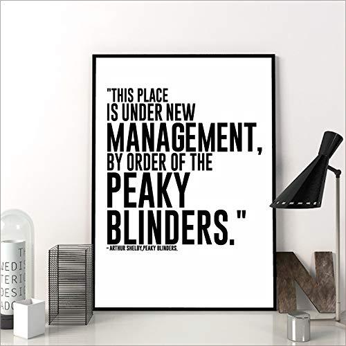 Serie de TV Cita Póster Peaky Blinders Imprimir Arte de la Pared...