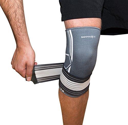 Bonmedico® Celo, die fixierbare Kniebandage sorgt für mehr Stabilität beim Sport und im Alltag, wirkt schmerzlindernd bei Gelenkkrankheiten wie Arthrose, schützt beim Laufen und Joggen, für Damen und Herren, rechts und links tragbar - 6