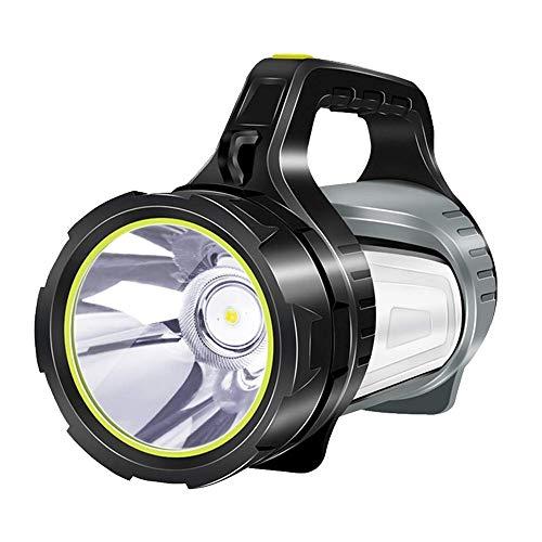 SHLYXY Proyector De Linterna, Foco De Mano De Alta Resistencia para Acampar Haz De Luz Antorcha Linterna Lámpara De Doble Cara 1000 Lúmenes 1000 Metros Luz De Aventura Linterna