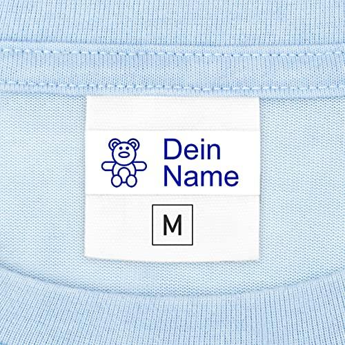 Namensschilder für Kleidung, Kindergarten, Schule (100 Stück) - Selbstklebend & Waschmaschinenfest