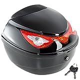 TecTake 401630 Motorradkoffer Topcase Roller, schwarz