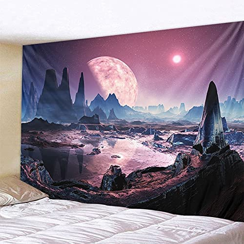 HGFHGD 40% OFF Discount is also underway Cheap Sale 3D tapestry pink starry sky hanging wall be art landscape