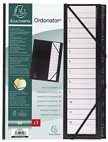 Exacompta 625665E Cartón Negro archivador organizador - Organizador de almacenaje (Cartón, Negro, A4, A4, Retrato, 600 hojas)