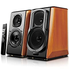 USES HIGH-END AUDIOPHILE COMPONENTS - Built with flat diaphragm tweeters and 5.5 inch woofers, the S2000pro represents the top of the line powered speakers for home or studio use BLUETOOTH WIRELESS - Bluetooth 4.0 support with aptX decoder makes play...