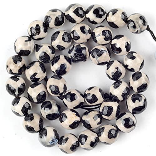 Cuentas de piedra sueltas para hacer joyas, pulseras tibetanas Dzi ágatas, ágata y jaspe, de 8 mm, 45 a 46 unidades