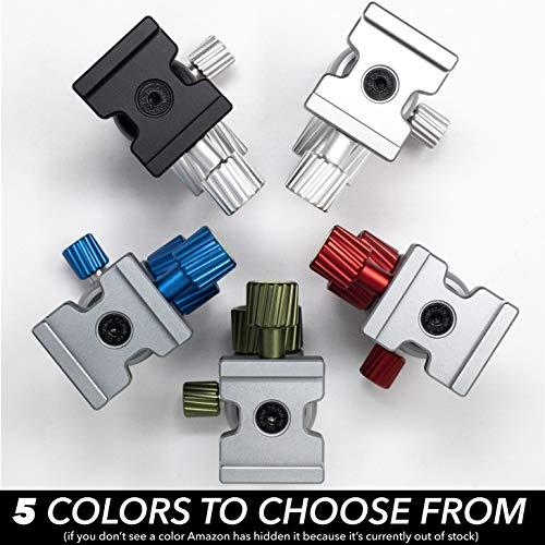 Colorado Tripod Company - Mini Tripod Ballhead 20lb Load Capacity for Monopod, Slider, Digital Cameras - Arca Clamp with 40mm Universal Arca Plate-Blue