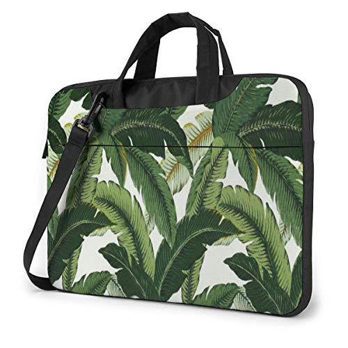 15.6 inch Laptop Shoulder Briefcase Messenger Banana Leaves Tablet Bussiness Carrying Handbag Case Sleeve