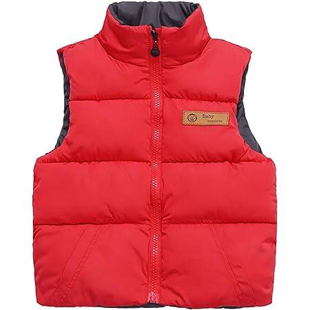 Chaleco de Plumón para Niños Niñas Invierno Sin Mangas Acolchado Abrigo Ligero Chaqueta de Abajo