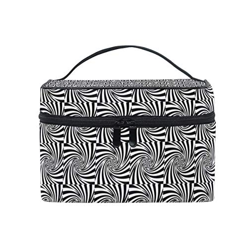 Vanity et Trousses à Maquillage Travel Makeup Cosmetic Bags Mini Distortion Geometric Decor Pattern Toiletry Bags Makeup Suitcase