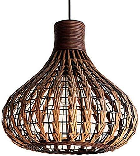 Z-GJM Indoor Kroonluchter Kroonluchter Natuurlijke Bamboe Kroonluchter Rieten lampenkap Geweven Creatief Ontwerp Woondecoratie