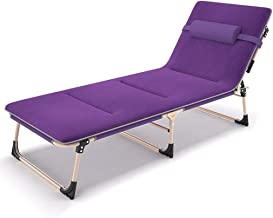 Recliner Chair,Foldable Lounge Chair Folding Bed Single Bed Office Bed Siesta Bed Nursing Bed Camp Bed