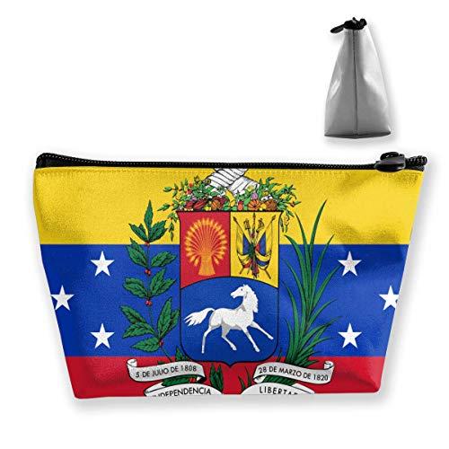 Drapeau de Venezuela Portable Maquillage Recevoir Sac Stockage Grande Capacité Poches Main Travel Wash Bag