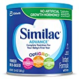 Similac Advance Infant Formula with Iron, Powder, 12.4 Oz, Pack of 6