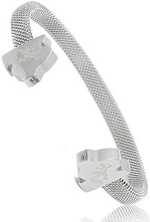 Isla de Mallorca diseño de moda brazalete Energetix 4you energía magnética brazalete Salamander Logo acero inoxidable plata pulido M/L