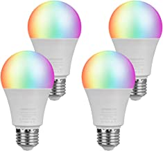 LEGELITE LED Smart Light Bulb, E26 7W WiFi Light Bulbs 2700K to 6500K Dimmable and RGBCW Color Changing, No Hub Required, ...