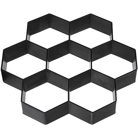 colore Stampo per pavimentazione esagonale DOITOOOL nero