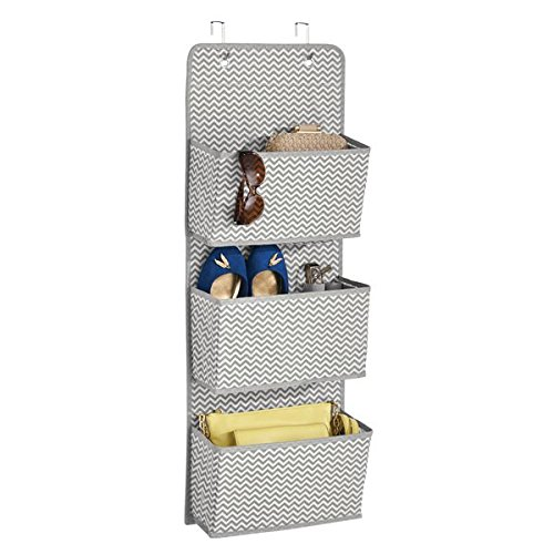 mDesign Hanging Storage with 3 Pockets - Children's Room Storage for...