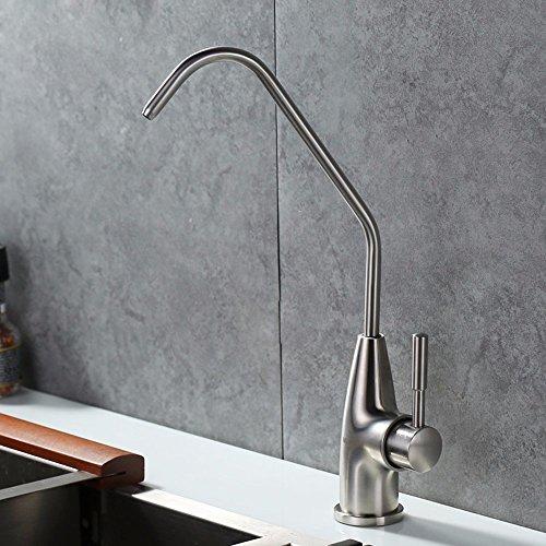SDKKY Grifo de cocina de acero inoxidable 304, recta, purificador de agua potable, el purificador de agua para grifo, grifo, pura canilla libre de plomo,B