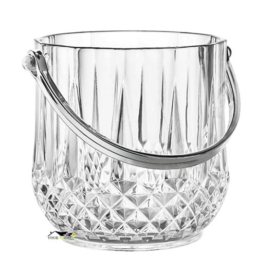 Madeinely Cubo de hielo de acrílico de 1,2 l cubo de hielo de vino champán magnífico diamante cubo de hielo para bebidas fiesta casa bar