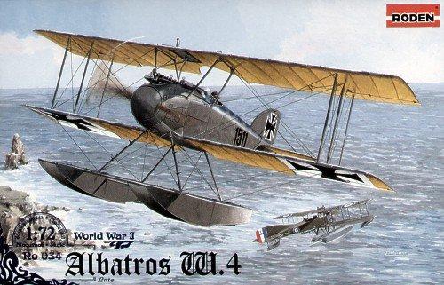 ローデン 1/72 独 アルバトロス W4 水上戦闘機後期型 WW-1 072T034 プラモデル