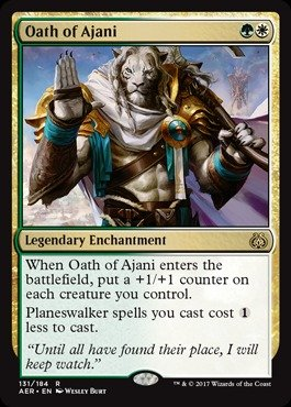 Magic The Gathering Oath of Ajani Giuramento di Ajani - Aether Revolt