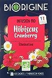 BiOrigine – Infusion bio Hibiscus Cranberry – Pour le maintien du confort urinaire – Ingrédients d'origine naturelle – Fabriqué en France – 20 sachets