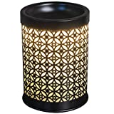 """Scentworks Serenade Metal Halogen Wax Melter, LED Timer Always On, 2 Hour, 4 Hour, 6 Hour Time Settings, 4.25"""" Round x 5.75"""" H"""
