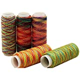 JINQIANSHANGMAO Bordado 5 unids/set Quilting Accesorios Artesanía Hogar Arco Iris Color Mano Profesional Portátil DIY Bordado Hilo de coser