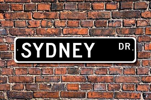 MNUT Sydney-Metallschild Sydney-Besucher Souvenir Geschenk Australische Stadt Sydney Indianer Aluminium Wand Poster Hofzaun Schild 40,6 x 10,2 cm