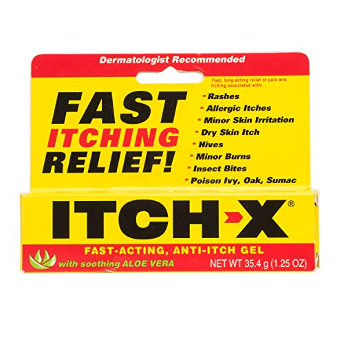 Itch-X Fast-Acting Anti-Itch Gel, 1.25-Ounce Tube (Pack of 4)