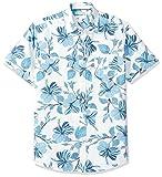 Amazon Essentials - Camiseta de manga corta con estampado para hombre, Large Floral, US S (EU S)