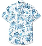 Amazon Essentials Men's Regular-Fit Short-Sleeve Print Shirt, Floral, X-Large