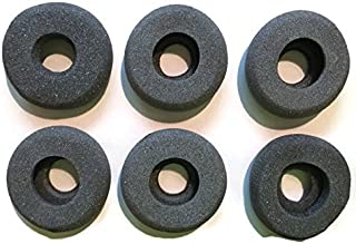 Foam Ear Pads with Hole Compatible with Plantronics headsets, GN Netcom/Jabra, Smith Corona, VXI headsets - Quantity of 6 Ear Pads - Universal Foam Ear Pads