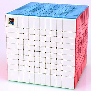 LiangCuber Moyu Meilong 10x10 Speed Cube Stickerless Meilong Puzzle Cube 10x10x10 Magic Cubes