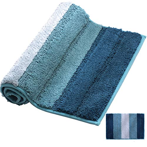 XIYUNTE Tappetini per il bagno - Lusso microfibra Ciniglia Tappeti e scendiletto con TPR Non slittamento Tappetini per vasca e Stuoie della doccia, Tappeti lavabili per bagno, cucina(50*80CM 20 *32 )