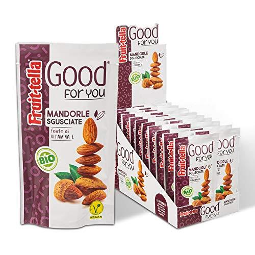 Fruittella Good For You Mandorle Sgusciate Biologiche, Snack di Frutta Secca Biologico, Fonte di Vitamina E, Confezione da 20 Pacchetti Monodose