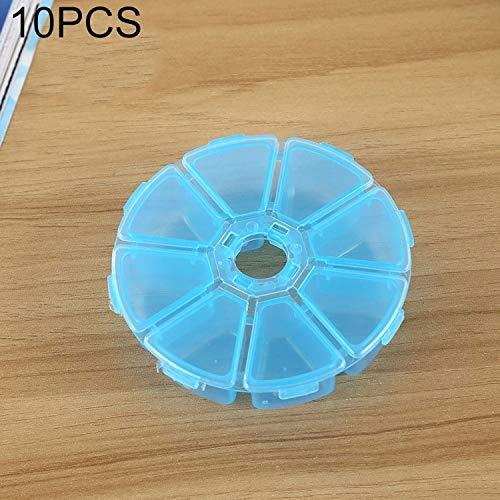 QICHENGBIN Mini Coffret à Bijoux Round 8 Machines à sous boîte en Plastique Organisateur de Stockage de conteneurs, for Bijoux en Cristal Pendentif Accessoires 10 PCS (Color : Blue)