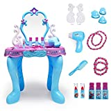 Yhjklm-HE Frisierkommode Mädchen Frisierkommode Mädchen Spielhaus Set Princess Dressing Table...