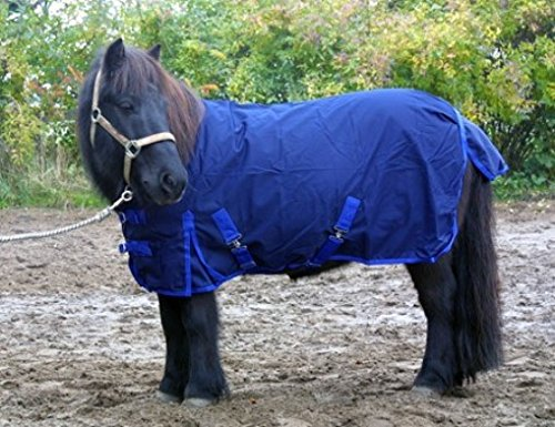 jw reitsport Shetty Regendecke 70cm Navy