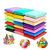24 Colors Air Dry Clay Magical Kids Clay Ultra Light Modeling Clay Artist Studio Plasticine Toy Safe and...