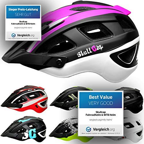 Skullcap® Fahrradhelm & MTB Helm + Visier für Herren & Damen (femTRAIL, L (59-61 cm))