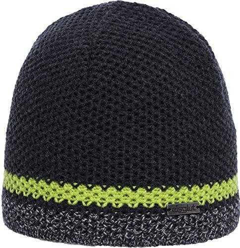 Eisglut Unisex– Erwachsene Frost Mütze, Caviar Mel./Lime Green, One Size