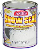 Ames Research Labs SSC1 Snow Seal Premium Roof Coating, Contractor Grade, Elastomeric, Bright White, 1-Gal. - Quantity 4