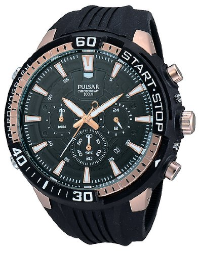 Pulsar Herren-Armbanduhr XL Pulsar X Analog Quarz Kautschuk PT3502X1