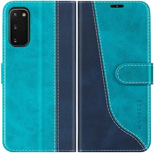 Mulbess Custodia per Samsung Galaxy S20, Cover a Libro Samsung Galaxy S20, Custodia in Pelle Samsung Galaxy S20 Flip Cover per Samsung Galaxy S20 5G, Blu Mint