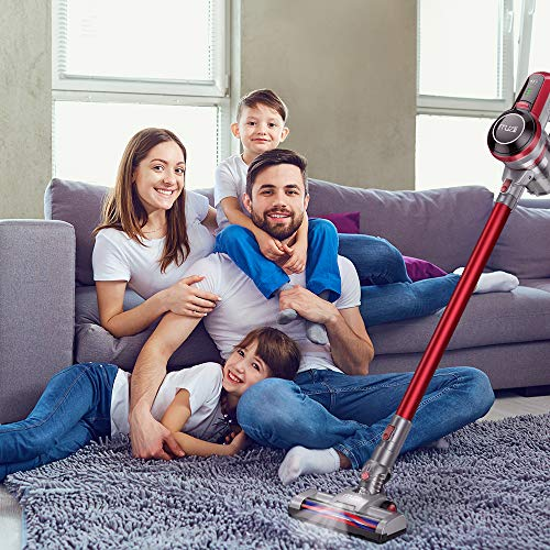 Muzili Cordless Vacuum Cleaner 2-in-1 Handheld Stick Vacuum 120 W Strong Suction and Efficient Filtration System Lightweight Handheld Upright Vacuum Cleaner for Hard Floor Carpet Pet Hair