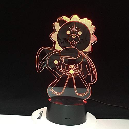 Lampe 3d lampe veilleuse Ours en colère Winnie l'Ourson Cadeaux adaptés à l'anniversaire des enfants et à Noël - Le style 81 - Interrupteur tactile