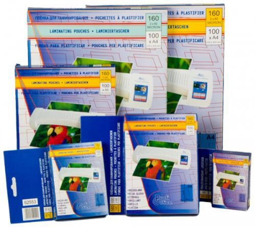 100 ProfiOffice Laminierfolien 54x86mm / 2*100mic