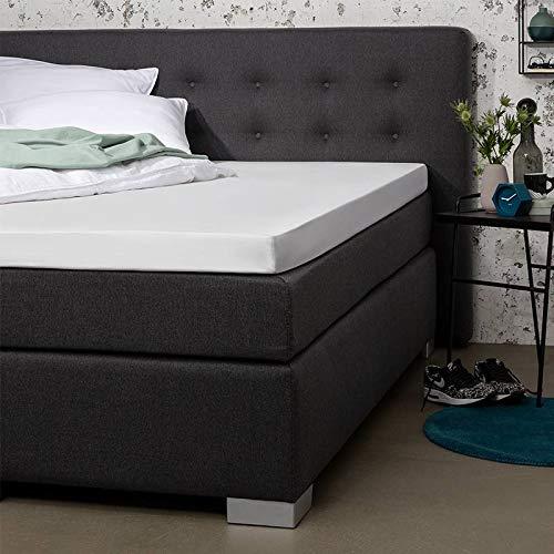 Topper Hoeslaken - Wit - 180x210 cm - Percal Katoen - Presence - Voor Matrassen Tot 10 CM